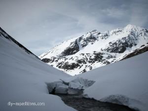 Schnee im Val Torta, Graubünden